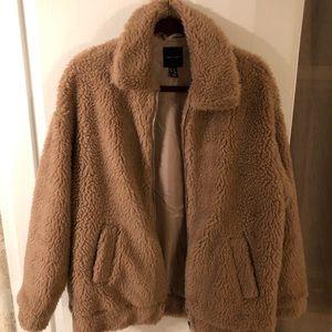 Beige Teddy coat from ASOS (S/M)